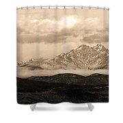 Twin Peaks Sepia Panorama Shower Curtain
