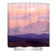 Twin Peaks Sunrise  Shower Curtain