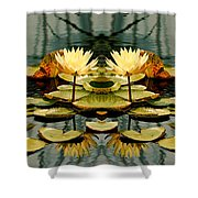 Twin Pond Lillies Shower Curtain