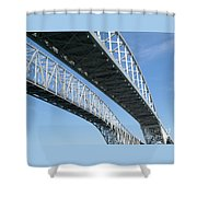 Twin Spans Shower Curtain