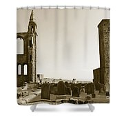 Twin Turrets And St. Rule's Tower Shower Curtain