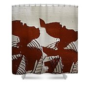 Twins - Tile Shower Curtain