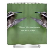 Twins Card - Hummingbirds Shower Curtain