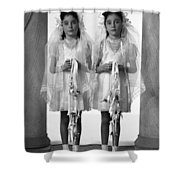 Twins First Communion 2 Shower Curtain