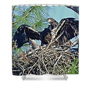 Twins Getting Ready  Shower Curtain