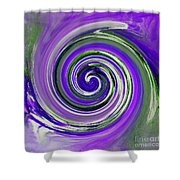 Twirl 02c Shower Curtain