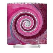 Twirl Pink  Shower Curtain