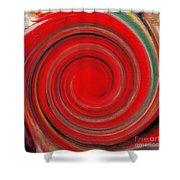 Twirl Red-0951 Shower Curtain