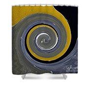 Twirl Yellow  Shower Curtain