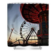 Twirling Away Shower Curtain