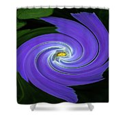 Twirling Flower Pedals Shower Curtain