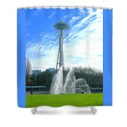 Twirling Water Shower Curtain