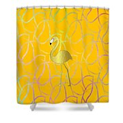 Twist And Turn Flamingo Shower Curtain