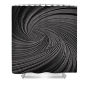 Twist To Black  - Black And Gray Art Shower Curtain