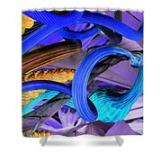 Twisted Blue Shower Curtain
