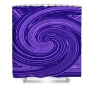 Twisted Blues Shower Curtain