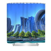 Twisted Chicago Skyline Shower Curtain