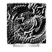Twisted Gears Abstract Shower Curtain