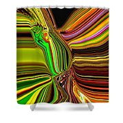 Twisted Glass Shower Curtain