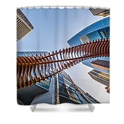 Twisted Horn Shower Curtain