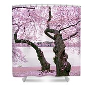 Twisted In Bloom Shower Curtain