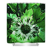 Twisted Leaves Shower Curtain