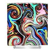 Twisted Lines Shower Curtain