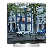 Twisted Panorama. Amsterdam Shower Curtain