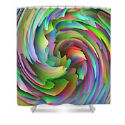 Twisted Rainbow 2 Shower Curtain