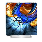 Twisted Spiral Abstract Shower Curtain