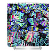 Twisted Text And Colors Shower Curtain
