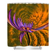 Twisted Waterlily Shower Curtain