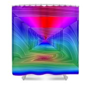 Twister In A Prism Shower Curtain