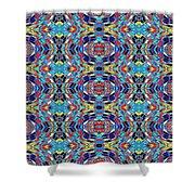 Twister Tile Shower Curtain