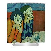 Two Acrobats, Harlequin And His Companion Shower Curtain