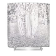Two Angels, 1904  Shower Curtain