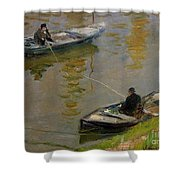 Two Anglers Shower Curtain