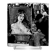 Two Artist Playing Chess At Place Du Tar Ter Shower Curtain