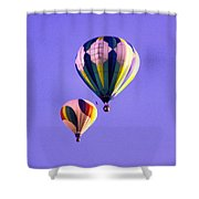 Two Balloons In The Clear Blue Sky  Shower Curtain