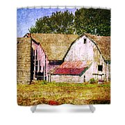 Two Barns And A Silo Shower Curtain