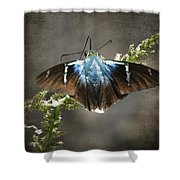 Two-barred Flasher Shower Curtain