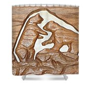 Two Bears Playing Poker Shower Curtain