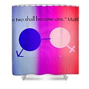 Two Become One Shower Curtain by Raul Diaz