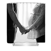 Two Becomes Three Shower Curtain by Kelly Hazel