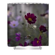 Two Bent Stems Shower Curtain