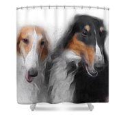 Two Borzois No 01 Shower Curtain
