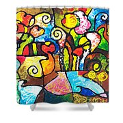 Two Bouquets Shower Curtain