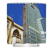 Two Buildings.. Shower Curtain
