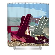 Two By The Shore Shower Curtain