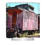 Two Caboose Shower Curtain